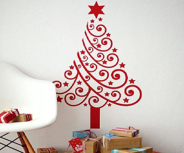 Wall Decor For Christmas  Christmas wall decoration ideas nice and easy family