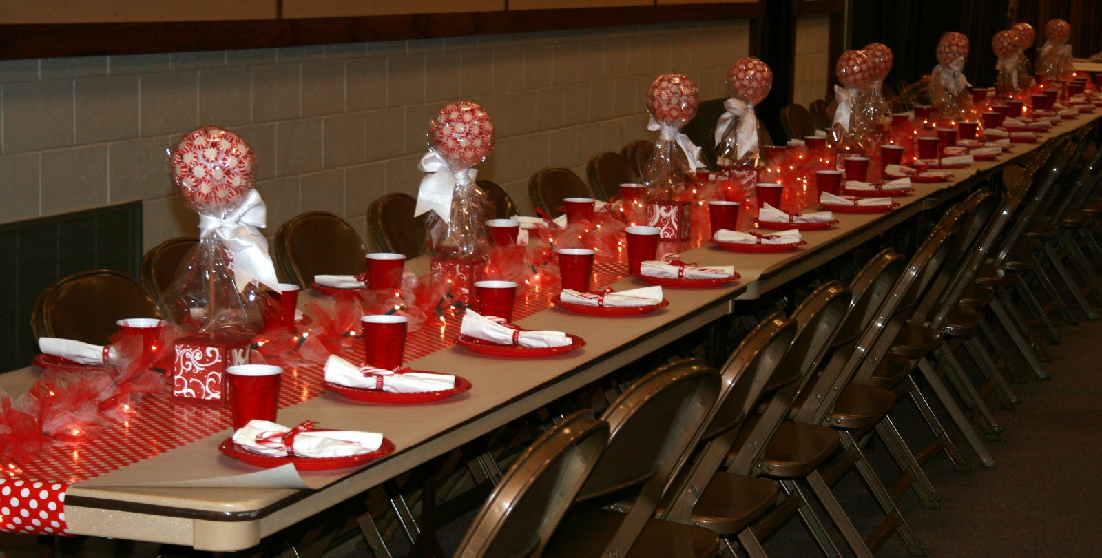 Ward Christmas Party Ideas  Little Miss Suzy Q Ward Christmas Party Center Pieces