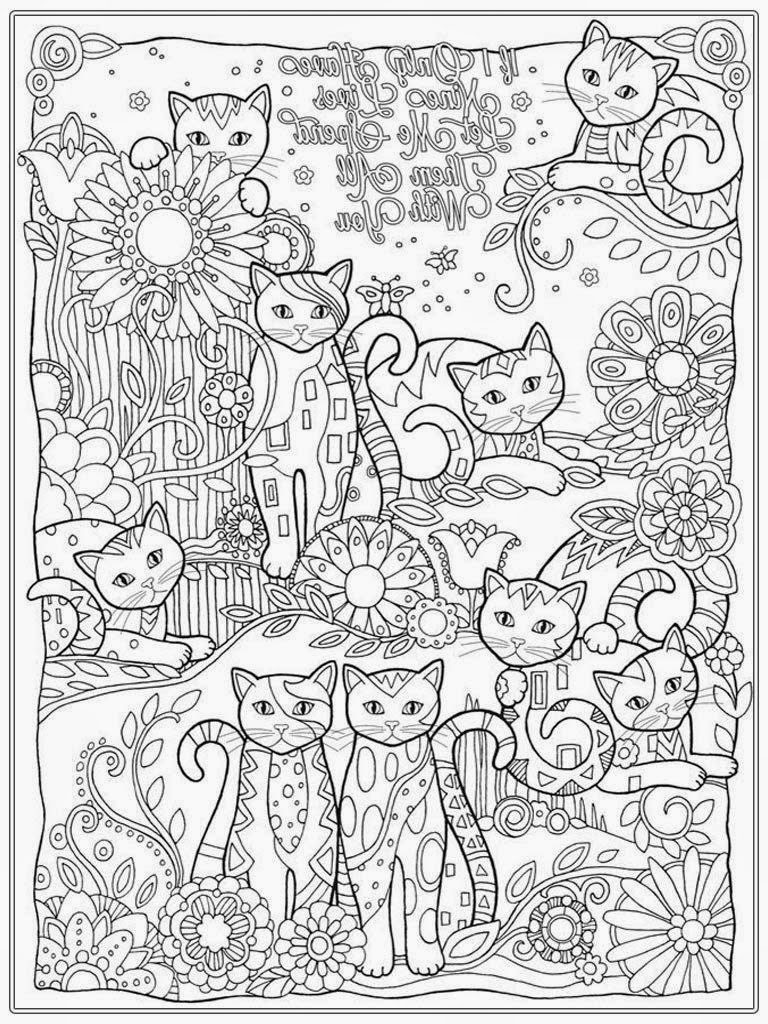 Young Adult Coloring Pages  Coloring Pages Cat Coloring Pages For Adult Realistic
