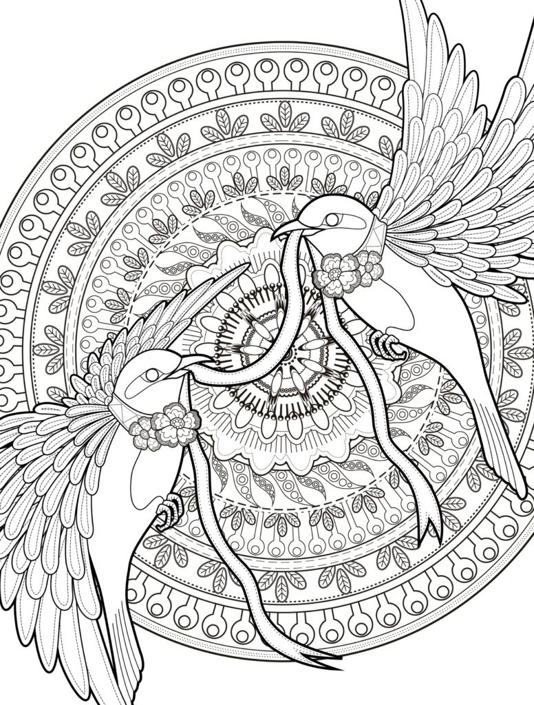 Young Adult Coloring Pages  Coloring Pages Adult Coloring Pages With Birds Free
