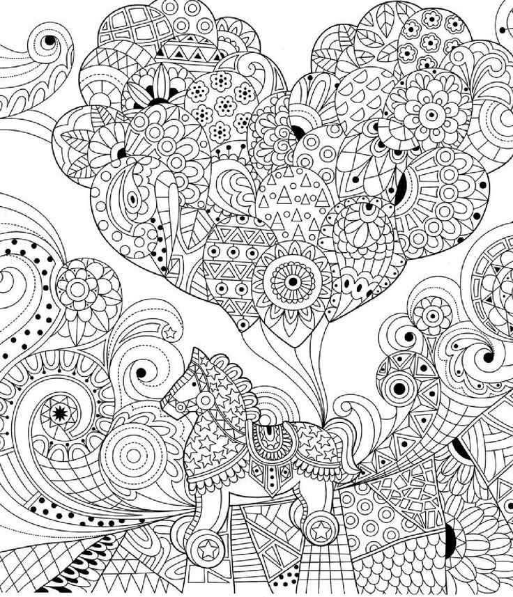 Young Adult Coloring Pages  354 best Лошадь Конь Олень images on Pinterest