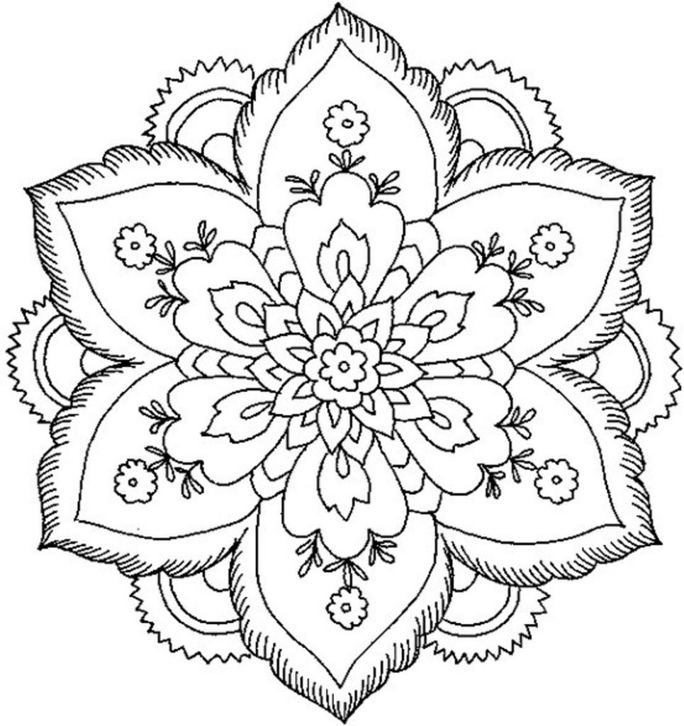 Young Adult Coloring Pages  Coloring Pages Related Simple Mandala Coloring Pages Item