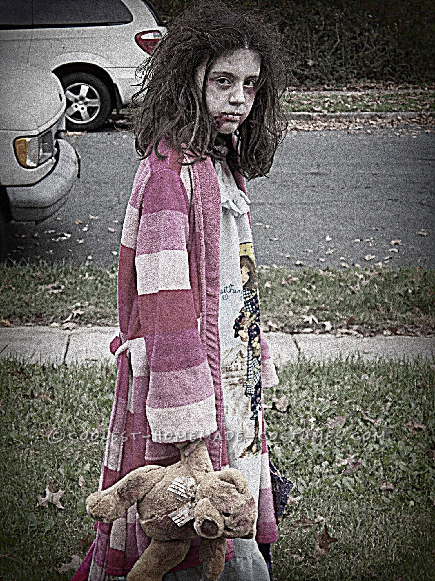 Zombie DIY Costume  Scary Homemade Costume for a Girl Little Zombie Girl