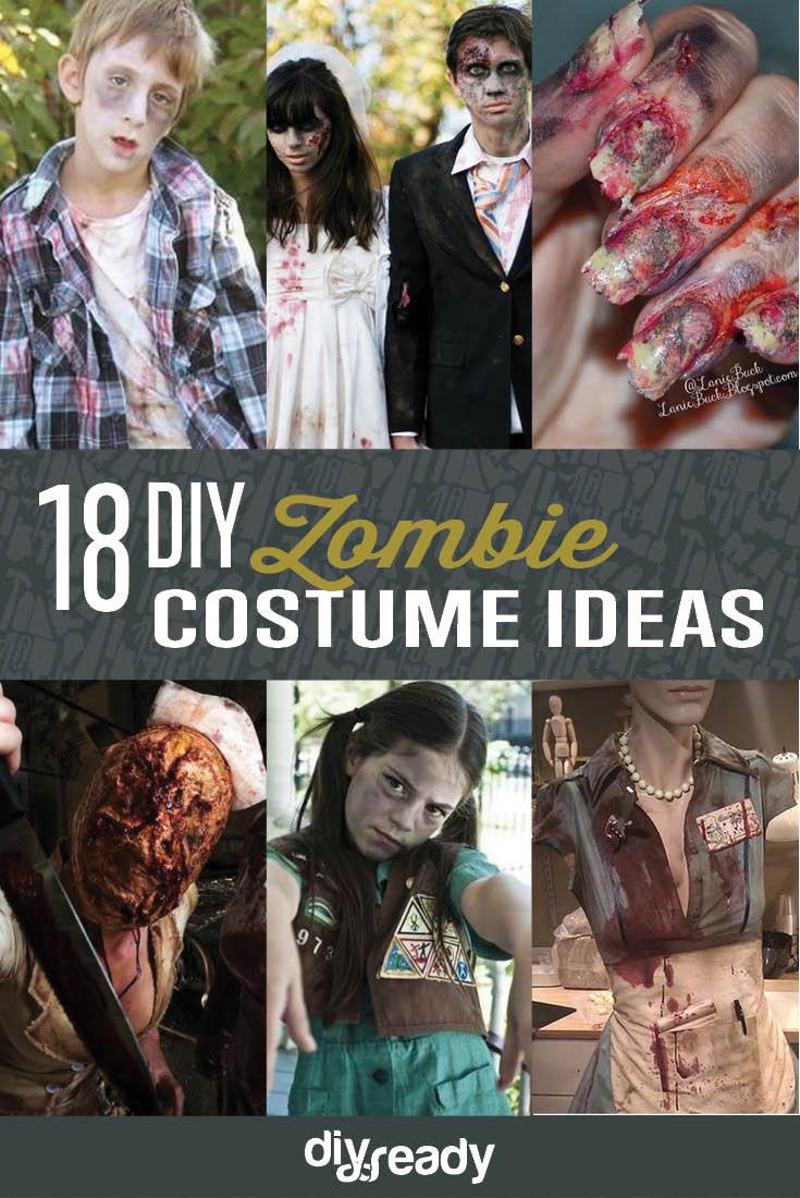 Zombie DIY Costume  18 DIY Zombie Costume Ideas DIY Ready