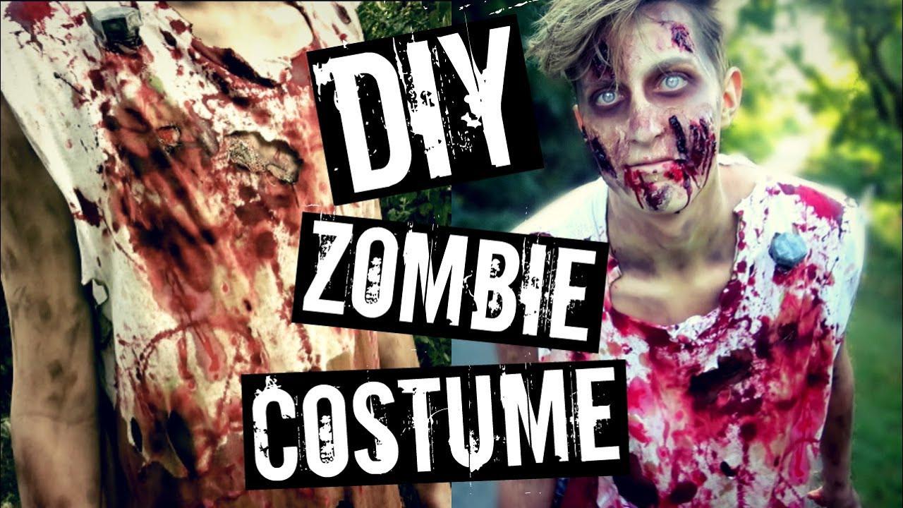 Zombie DIY Costume  DIY ZOMBIE COSTUME
