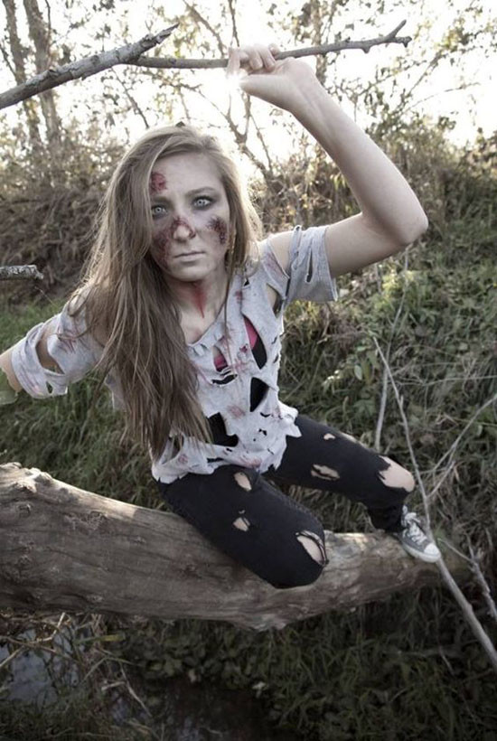 Zombie DIY Costume  Cool Zombie Halloween Costume and Makeup Ideas Easyday