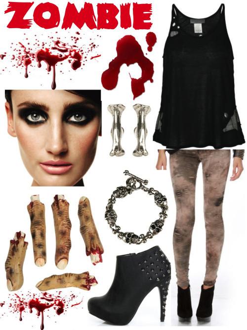 Zombie DIY Costume  DIY Halloween Costumes Stylish Yet Scary