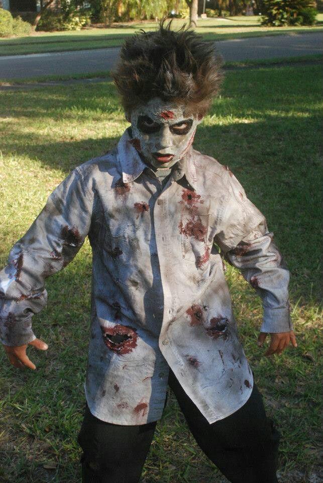 Zombie DIY Costume  Diy zombie costume Halloween costumes Pinterest and Web